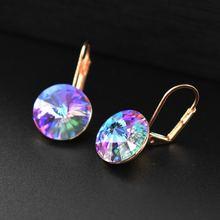 Роскошные серьги с кристаллами корейские универсальные простые