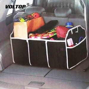 Image 1 - Auto Rücksitz Organizer Multi Tasche Lagerung Tasche Große Kapazität Klapp Auto Stamm Verstauen Aufräumen Zubehör