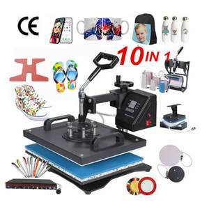 Heat-Press-Machine Sublimation Cap/phone-Case for 10-In-1-Combo