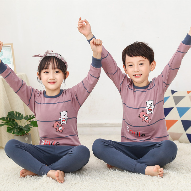 2020 Winter Autumn Kids Pajamas Baby Boys Clothing Cartoon Costume Long sleeve Pijamas Children Sleepwear Christmas Pajamas Sets 1