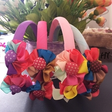 1 Pcs/lot New Headdress Flower Fabric Flowers For Headbands Dresses Hair Ornaments