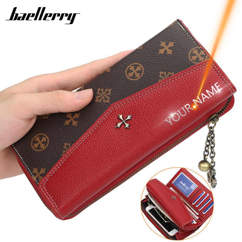 2020 kadın cüzdan adı gravür marka uzun moda kaliteli kart tutucu klasik kadın çanta fermuar marka cüzdan kadınlar için