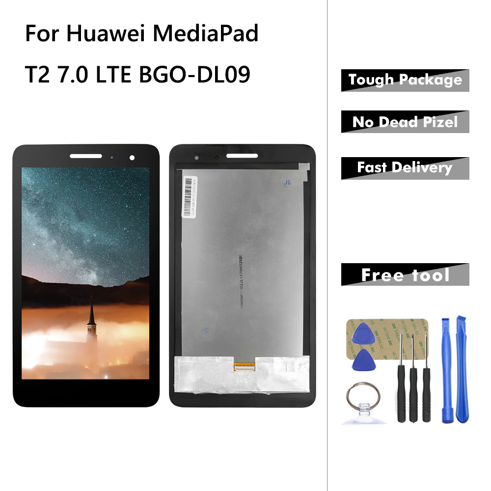 For Huawei MediaPad T2 7.0 LTE BGO-DL09 LCD Display Touch Screen Panel Digitizer Full Assembly Parts + Tools