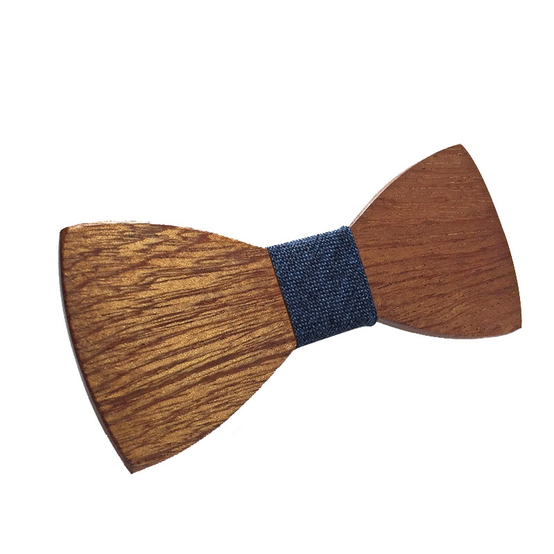 Handmade Wooden Bow Tie 2019 Men's Business Party Wedding Retro Environmental High Grade Wood Bowtie Unisex Gifts Classic Trendy