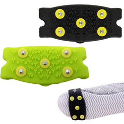 1 Pair Snow Ice Climbing Anti Slip Spikes Grips Crampon Cleats Stud Shoes Cover  Climbing Gripper Walking Shoe Spikes Unisex