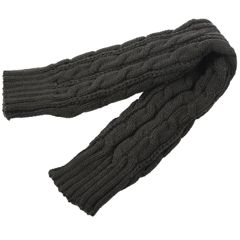 Fashion Winter Women Men Gloves Unisex Arm Warmer Long Fingerless Knit Mitten Dark Gray 50 Cm