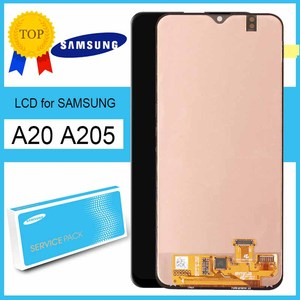 Original 6.4'' Super Amoled Display with frame for SAMSUNG A20 A205 SM-A205F/DS, SM-A205FN/DS Touch Screen Digitizer Assembly(China)
