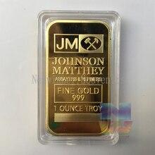 5pcs/lot 1 oz 999 Gold Johnson Matthey Bullion Bar American souvenir bars Free Shipping doc johnson american bombshell bunker buster фаллоимитатор реалистичной формы
