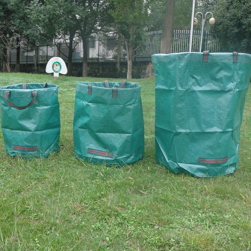 120L Large Capacity Garden Bag Reusable Leaf Sack Trash Can Foldable Garden Garbage Waste Collection Container Storage Bag
