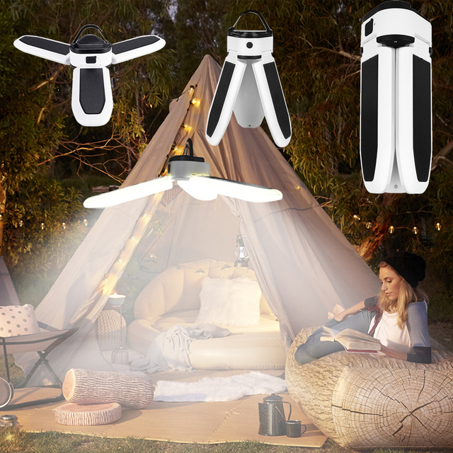 Camping Lantern Portable Light Camping Light Led Rechargeable Flashlight Lamp Emergency Camping Light Bulb Powerful Solar or Usb 1