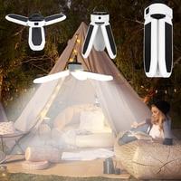 Linterna Luz Portátil para acampada, lámpara para Taller, equipo de emergencia, Bombilla potente Solar o Usb