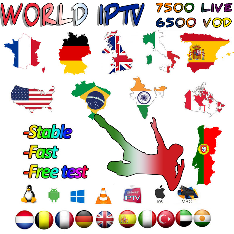 UK German Poland Romania Europe IPTV French Turkish Hungary Czech Spain Nordic HD IPTV Support Android M3U Smart TV Series VOD