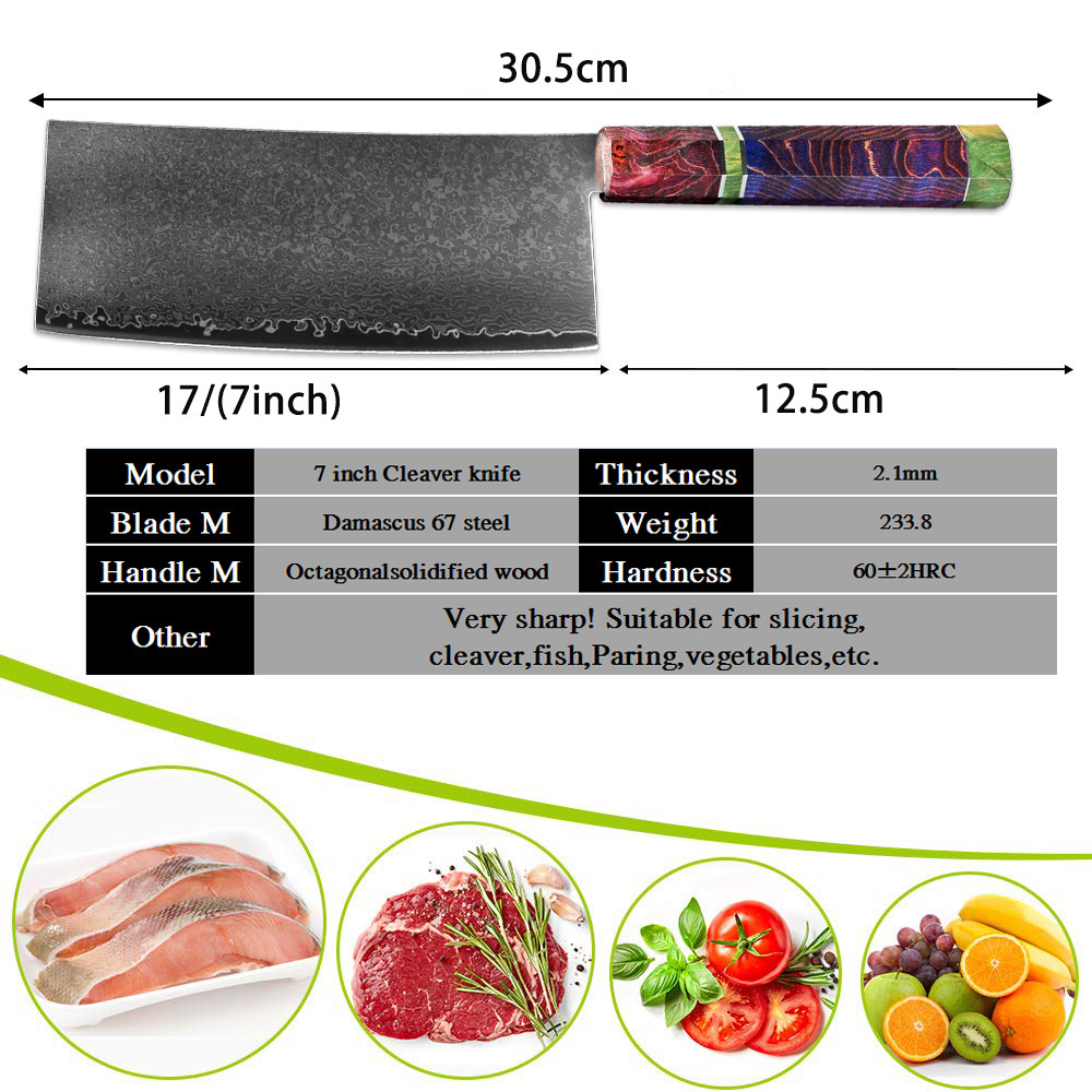 Meat cleaver dimensions