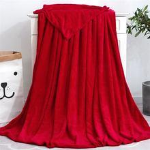 Мексиканское одеяло однотонное Фланелевое мягкое покрывало для