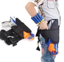 Crianças saco de cintura tático e dardo wrister kit para nerf armas n-strike elite série blaster