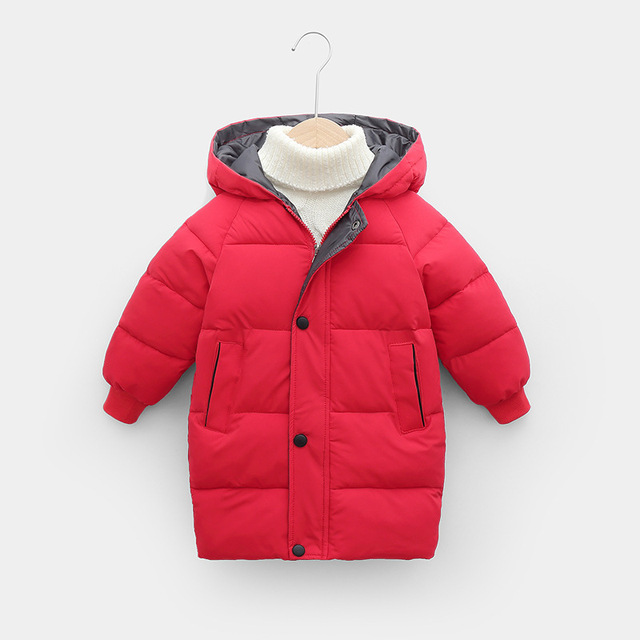 Sundae Angel Children Coat Winter Girls Down Cotton Padded Kids Hooded Solid Down Jacket For Boy Warm Child Outerwear Clothes 2