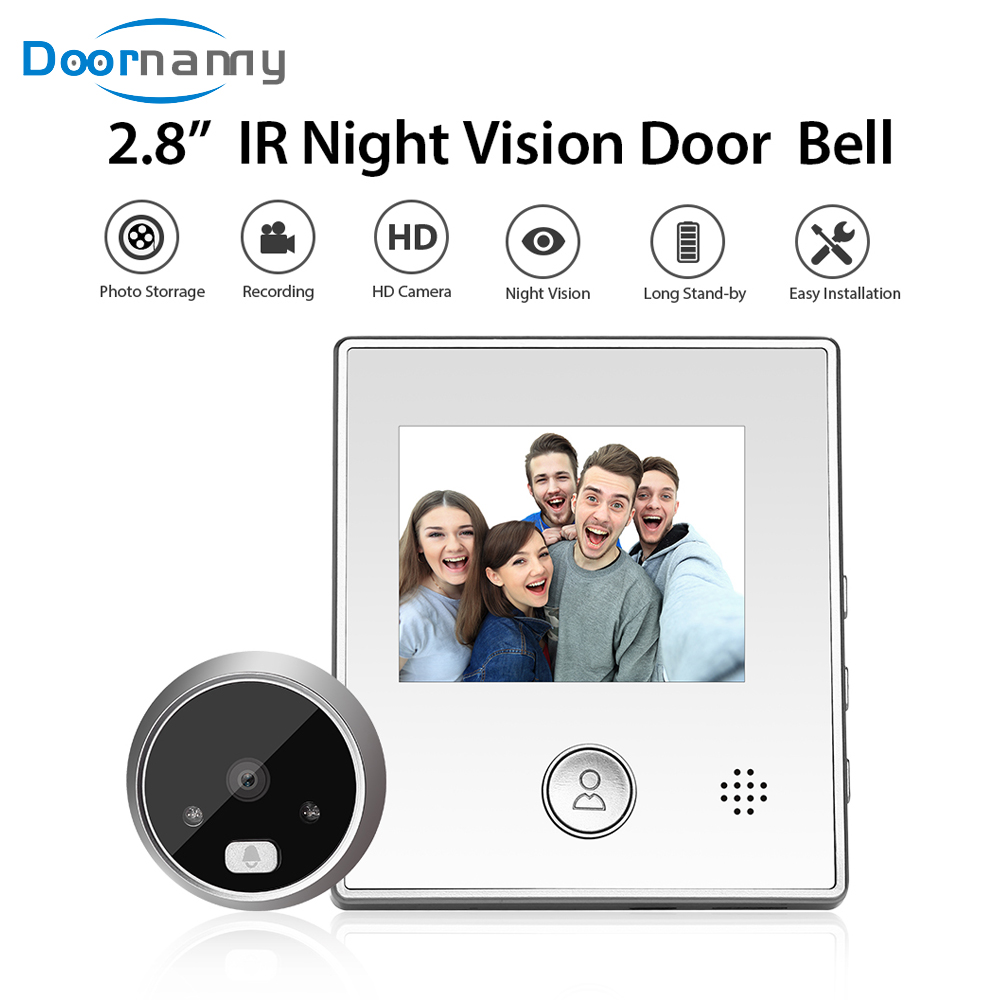 Doornanny Doorbell With Camera Set Video Doorbell Night Vision Peehole For The Door Automatic Recording & Photograph