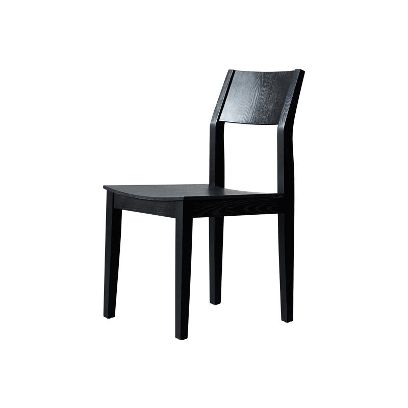 Black dining chair solid wood chair black walnut color nordic ash modern high-end fashion simple restaurant hotel home