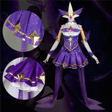 The Popular Game LOL  Cosplay Costume Guardian of the Star Dark Sovereign Syndra Dress Full Sets A