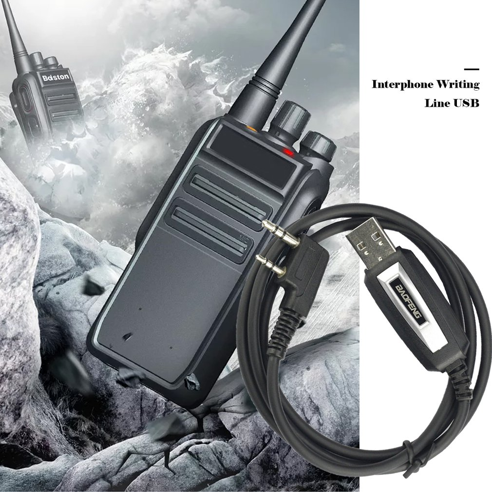 Baofeng USB Programming Cable With Driver CD for BaoFeng UV-5R BF-888S UV-82 GT-3 Walkie Talkie Accessories