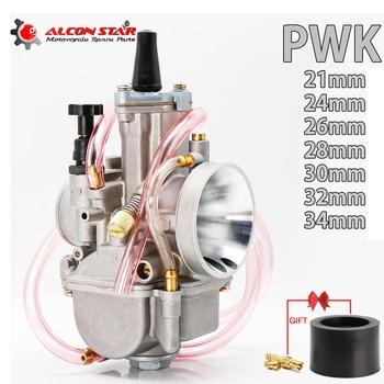 Alconstar- 21 24 26 28 30 32 34mm 2T 4T PWK carburador de la motocicleta carburador de Jet para Mikuni Koso OKO para ATV Suzuki Yamaha