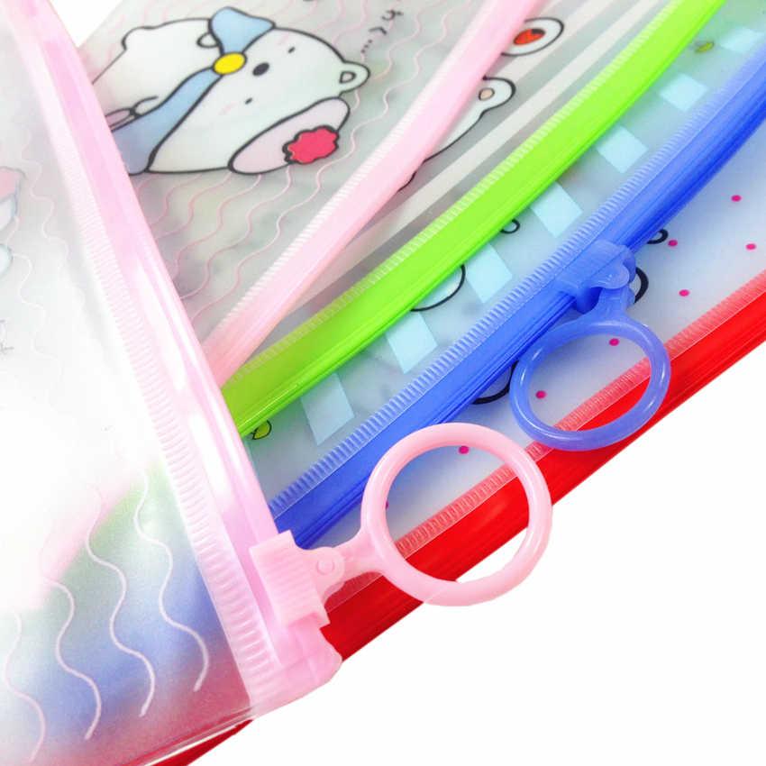 Bolsa de suporte para caneta de urso, material de papelaria para uso escolar e presente infantil, 1 pçs/lote