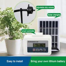 Jardim automático rega dispositivo atualizado energia solar de carregamento da bomba água temporizador sistema inteligente vaso planta irrigação por gotejamento