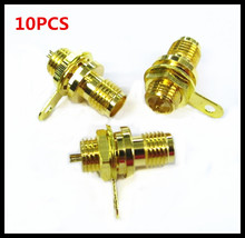 10PCS SMA-50KY Nut Fixed SMA Head Seat Welded Circuit Board Socket 50 Ohm RF Connector 10pcs 2w n connector rf dummy load termination load 50 ohm dc 3ghz 6ghz vswr 1 1 free shipping