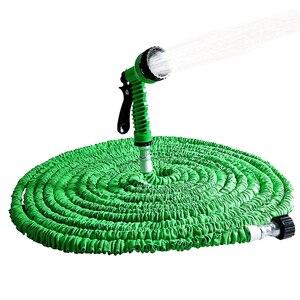 Image 1 - 拡張可能なガーデンホース拡張可能な柔軟な水ホースプラスチック銃魔法/伸縮ホース散水用伸縮性灌漑パイプ