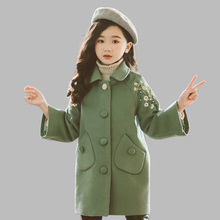 Jacket For Girls Floral Pattern Girls Long Jacket Thick Warm Jacket For Kids Winter Teen Clothing For Girls 6 8 10 12 14 Years girl hoodies clothing winter long sleeve fleece warm teen girls coat 10 11 12 13 14 15 16 8 5 years with hooded kid clothes