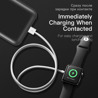 2 in 1 Wireless Charger for Apple Watch Series 1 2 3 4 USB Magnetic Charging Cable 3.3 feet/1meter for iPhone X XR XS 8 8 Plus 4