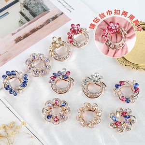 SHLL Big Flower Crystal Brooch For Women Fashion Brooch Pin Bouquet Rhinestone Brooches And Pins Scarf Clip Jewelry Accessorise(China)