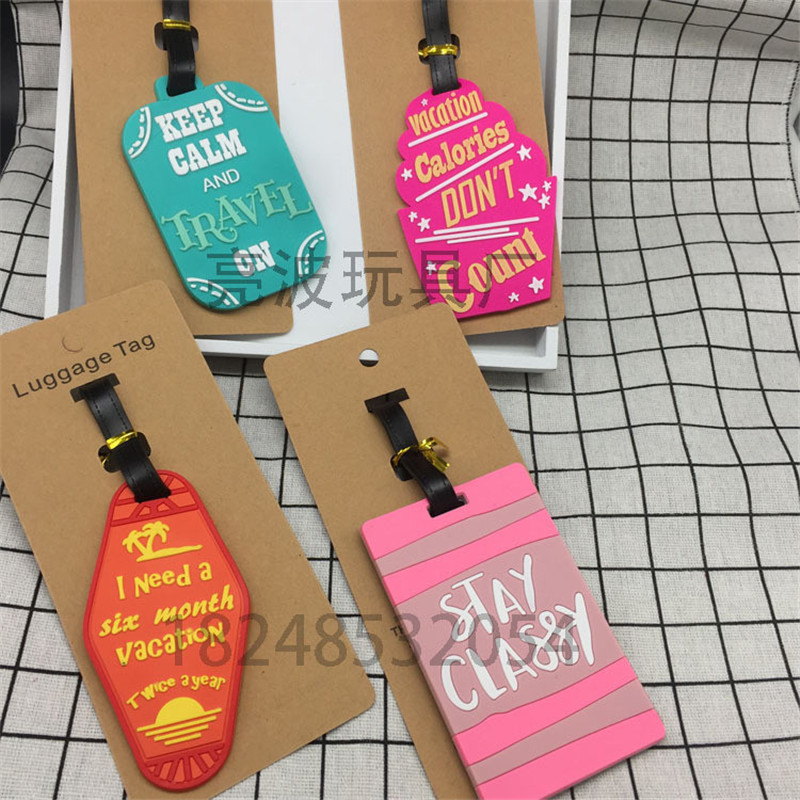 Boarding-Tag Luggage Address-Holder Travel-Accessories Suitcase Id Label Silica-Gel Women