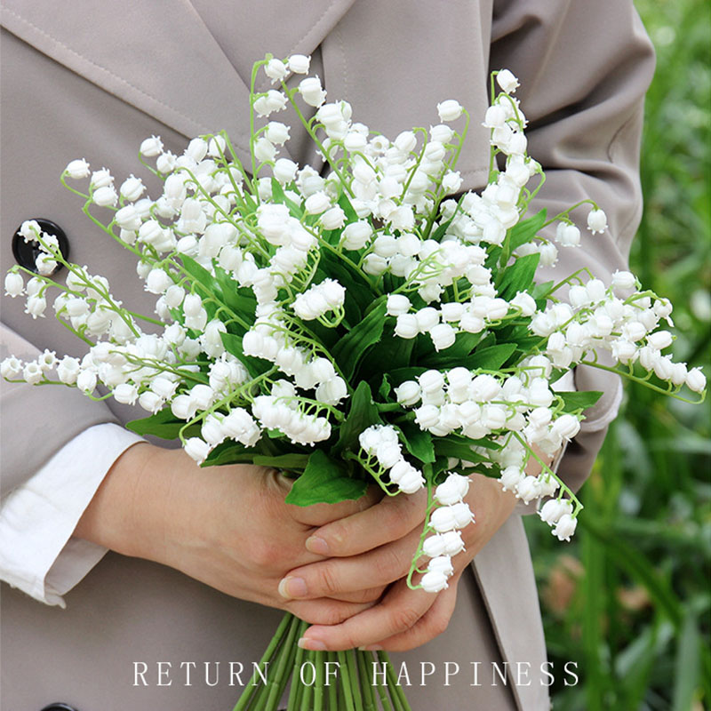 Artificial Lily Of The Valley Flower White Orchids For Home