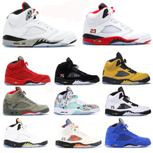 Top 5 5s Fire Red Michigan Mens Basketball Shoes Bred Oreo C