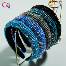 Shiny Hair-Band Hair-Accessories Crystal-Headband Thick Wedding Woman Elegant CN