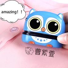 Sticker Name-Stamp Baby Custom-Made Children DIY Security for Student Chapter Not Easy-To-Fade