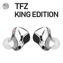 TFZ KING EDITION سماعة أذن مضغوطة بخشبة مسرح 2Pin HIFI IEM 3.5 مللي متر في الأذن رياضية ديناميكية DJ سماعات ضبط
