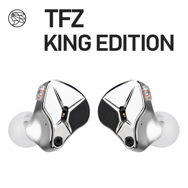 Наушники вкладыши TFZ KING EDITION, ароматизированные наушники вкладыши с монитором Zither, 2pin, Hi Fi, IEM, 3,5 мм, спортивные динамические диджейские наушники, Переключатель настройки