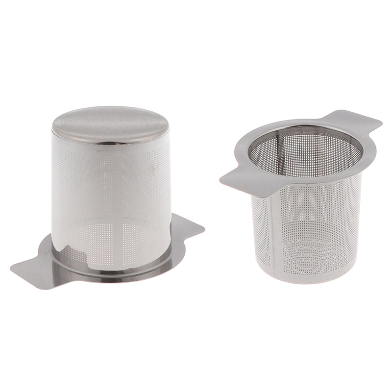 1pc Tea And Coffee Stainless Steel Tea Infusers With 2 Handles Basket Reusable Fine Mesh Tea Strainer