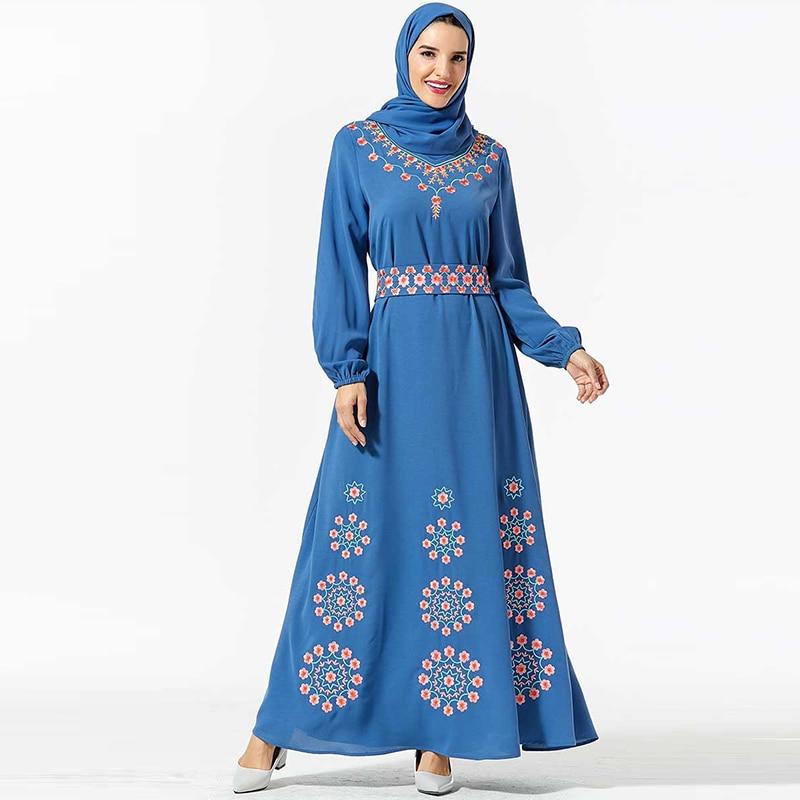 Kaftan Dubai Hijab Muslim Dress Turkish Abaya Robe Islam Clothing For Women Caftan Dresses Baju Muslim Wanita Kleding Djellaba