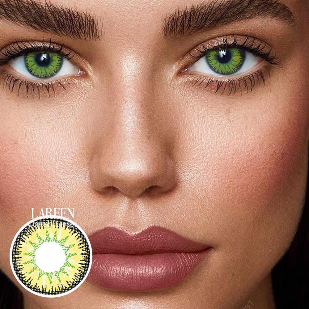 2 sztuk/para kolorowe soczewki kontaktowe oko Vika tricolor Series soczewki kontaktowe kolor kosmetyczny soczewki kontaktowe do oczu lentes de contacto