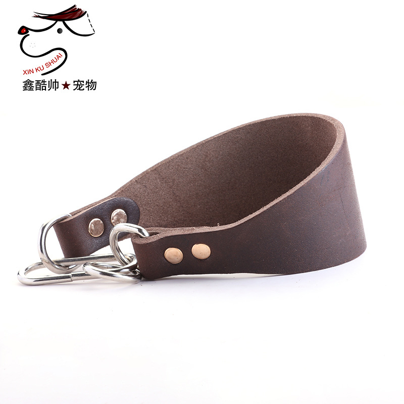 Full-grain Leather Greyhound Neck Ring Greyhound Hand Holding Rope Fine Dog Neck Ring Traction Case