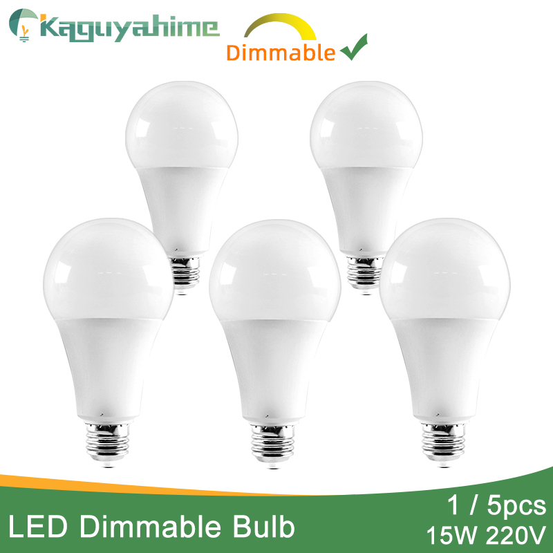Kaguyahime 1pc/5pcs 15W Dimmable High Bright E27 LED Lamp 220V LED Bulb E27 LED Light Lampadas Lamparas Bombillas Ampoule 6w 9w
