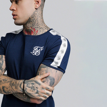 Summer SikSilk Male T Shirt Silk Silk Tshirt O-Neck Short Funny Mens Shirts T Shirts Sik Silk T Shirt Men T-shirt Tops Tees