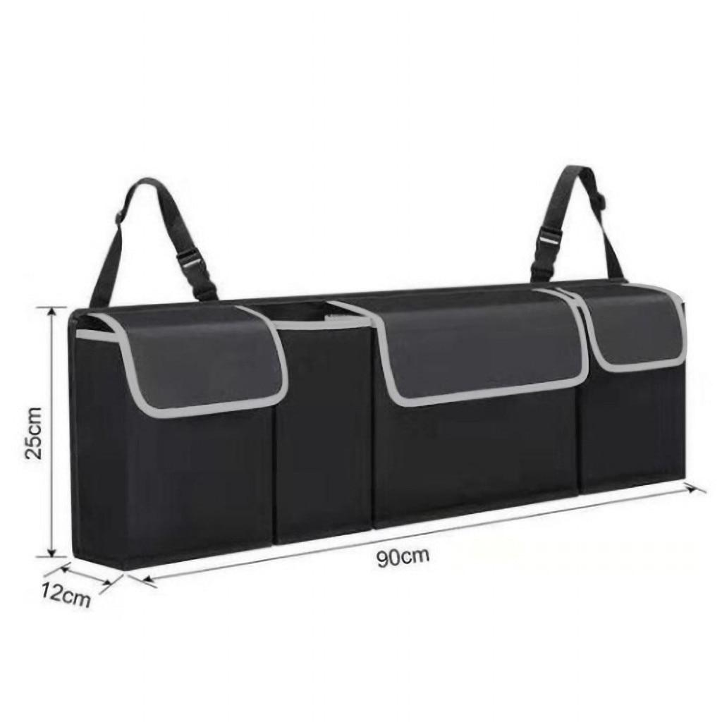 Автомобильный органайзер для багажника на заднее сиденье, регулируемая сумка для хранения, Сетчатая Сумка высокой емкости, многофункциональная оксфордская задняя часть, аксессуары для интерьера автомобиля