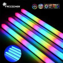 Freezemod RGB LED Strip ARGB Soft Light Cable 5V3Pin/12V4PIN AURA PC MOD Chassis Magnetic Lamp 25/30/35/40CM Decoration Coolmoon