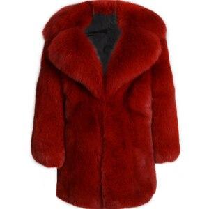 Image 1 - الحقيقي الفراء معطف السيدات الفراء الطبيعي معطف كامل بلت فرو الثعلب معطف