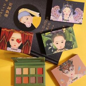 Новинка, Очаровательные Популярные тени для век Novo Elf, 8 цветов, телесный макияж, блестящий диск для макияжа, Блестящий мерцающий макияж, пудр...