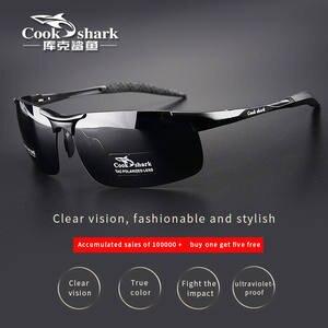 Sunglasses Men's Drivers Magnesium Polarized Cook-Shark's Aluminum Tide HD New